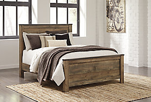 Trinell Queen Panel Bed, Brown, rollover