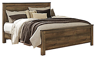 Trinell King Panel Bed, Brown, large