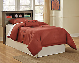Trinell Twin Bookcase Headboard, Brown, rollover