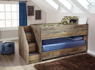 Picture of: Trinell Twin Loft Bed With Pull Out Caster Bed Ashley Furniture Homestore