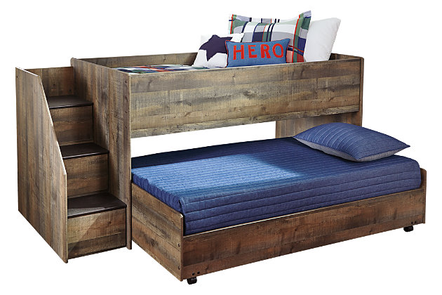 Trinell Twin Loft Bed With Pull Out