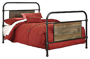 Trinell Metal Bed, , large