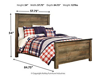 Trinell Full Panel Bed, Brown, large