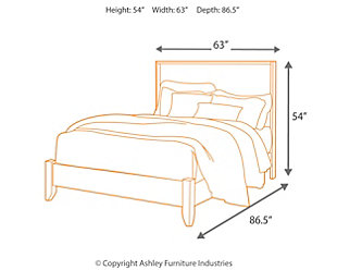 Stavani Queen Panel Bed, Black/Brown, large
