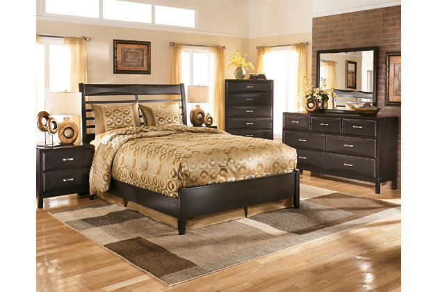 Black Bedroom Sets Ashley kira queen panel bed | ashley furniture homestore