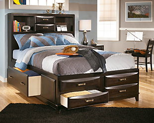 Kira Full Storage Bed, Almost Black, large