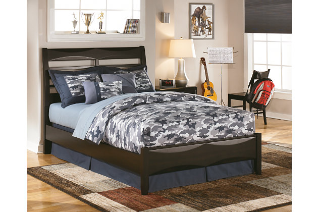 Black Kira Full Panel Bed by Ashley HomeStore