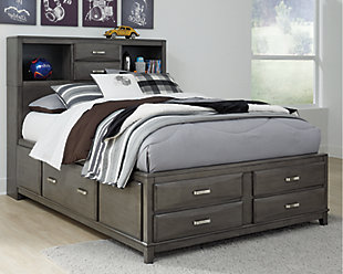 Caitbrook Full Storage Bed, Gray, rollover