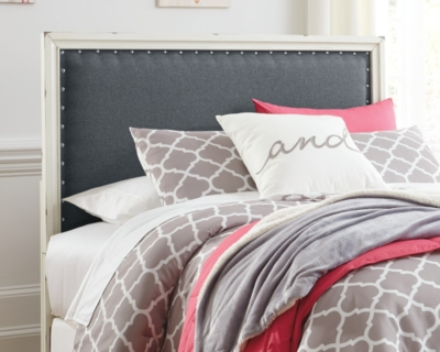 Upholstered Headboard Gray Full Product Photo 2791
