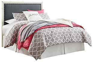 Faelene Full Upholstered Headboard, Gray, large