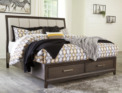 Picture of: Brueban Queen Panel Bed With 2 Storage Drawers Ashley Furniture Homestore