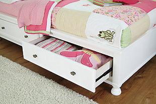 Kaslyn Full Bookcase Bed, White, large
