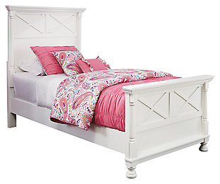 Kaslyn Twin Panel Bed, White, large