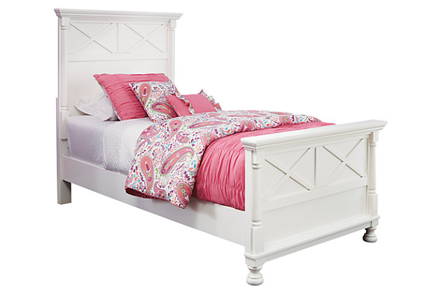 Kaslyn Twin Panel Bed by Ashley HomeStore, White