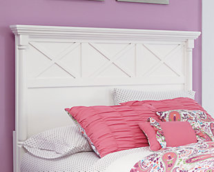 Kaslyn Queen Panel Headboard, White, rollover