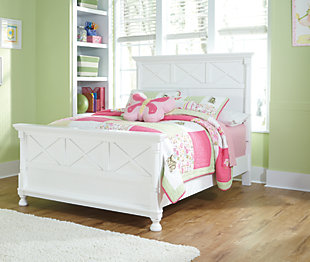 Kaslyn Queen Panel Bed, White, rollover
