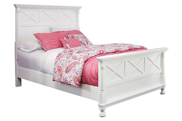 Kaslyn Full Panel Bed, White, large