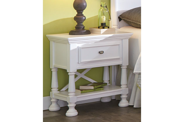 Kaslyn table de chevet meubles ashley homestore - Comment faire une table de chevet ...