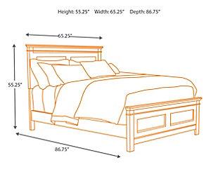 Alexee Queen Panel Bed, Dark Brown, large