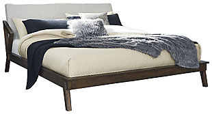 Kisper Queen Platform Bed, Brown, large