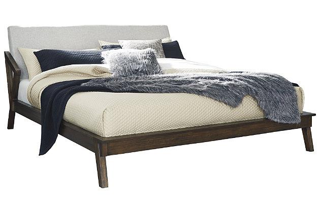 Kisper Queen Platform Bed, Brown, large