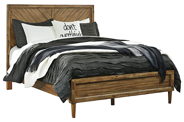 Broshtan Queen Panel Bed, Light Brown, large