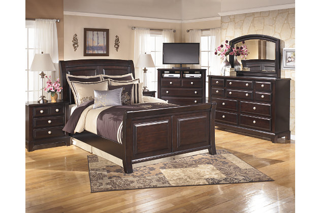 Ridgley Queen Sleigh Bed Ashley Furniture Homestore