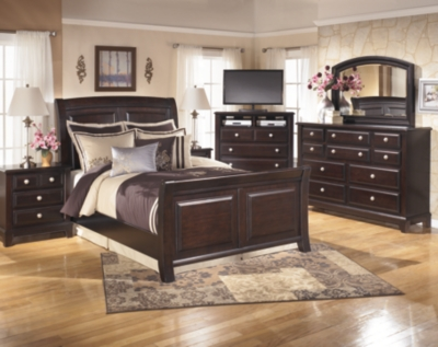 Picture of: Ridgley Queen Sleigh Bed Ashley Furniture Homestore