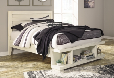 Panel Bed Storage White Queen Product Photo 539