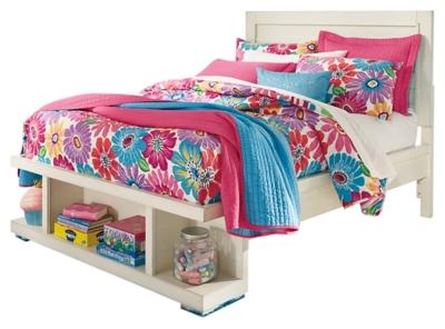 Panel Bed Storage White Full Product Photo 725