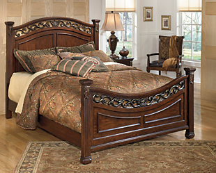 Leahlyn Queen Panel Bed, Warm Brown, rollover