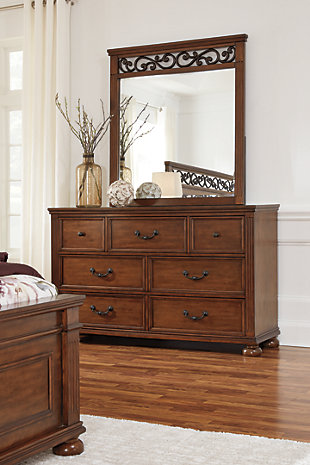 Lazzene Dresser and Mirror, , rollover