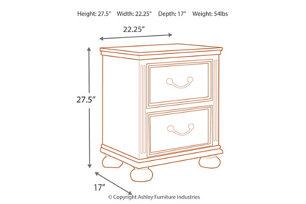 Lazzene Nightstand, , large