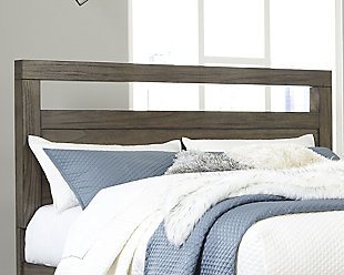 Deylin Queen Panel Headboard, Grayish Brown, rollover