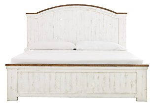 Wystfield Queen Panel Bed, White/Brown, large