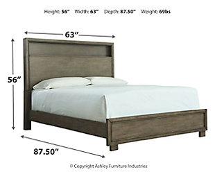 Arnett Queen Bookcase Bed, Gray, large