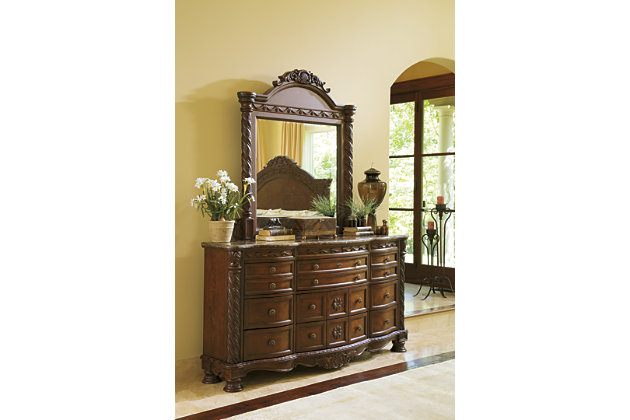Beautiful The Ultimate In Grand Style With North Shore Dark Brown Dresser And Mirror