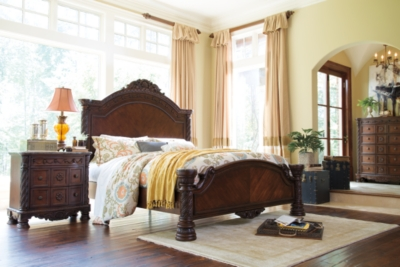 California King Panel Bed Dark Brown Shore Product Photo 525