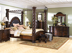 ... North Shore King Canopy Bed Dark Brown large : designer-canopy-beds - designwebi.com