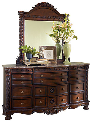 North Shore Dresser and Mirror, Dark Brown, large
