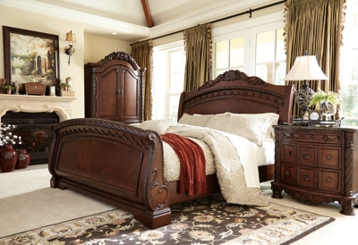 King Sleigh Bed Dark Brown Shore Product Photo 327
