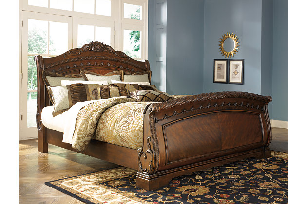 north shore queen sleigh bed | ashley furniture homestore