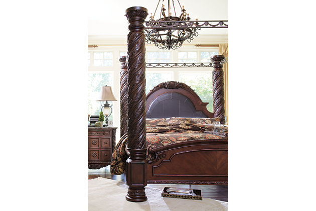 ... North Shore King Canopy Bed Dark Brown large ...  sc 1 st  Ashley Furniture HomeStore : brown canopy bed - memphite.com