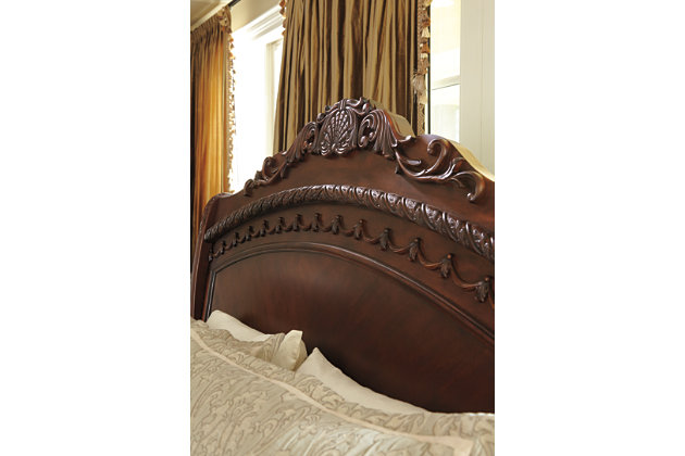org sleigh bed set design black ashley king furniture oregonslawyer signature north by bedroom shore