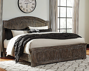 Danell Ridge Queen Panel Bed, Brown, rollover