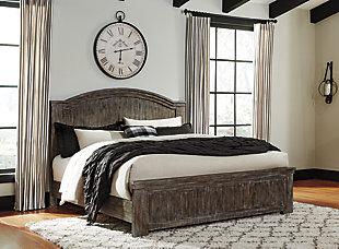 Danell Ridge California King Panel Bed, Brown, large