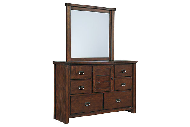 Ladiville dresser and mirror ashley furniture homestore for Affordable furniture ville platte la