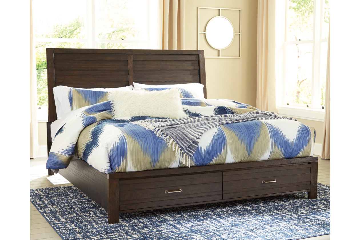 Darbry Queen Panel Bed with Storage | Ashley Furniture HomeStore
