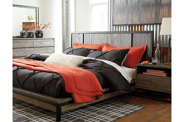 Cazentine Queen Panel Bed, Grayish Brown, large