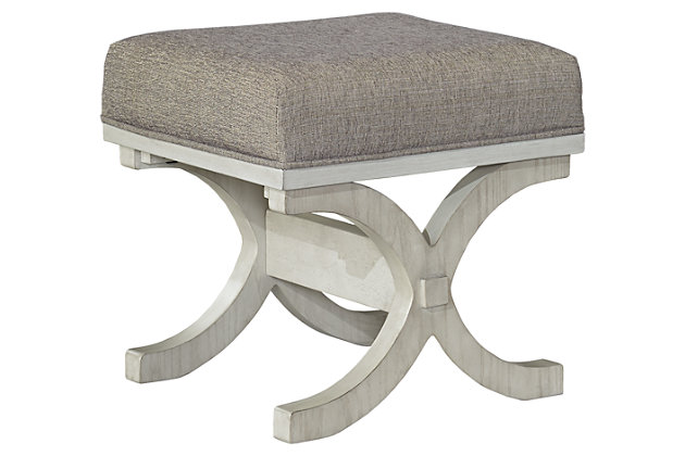 Abrielle Upholstered Bedroom Stool by Ashley HomeStore, Gray